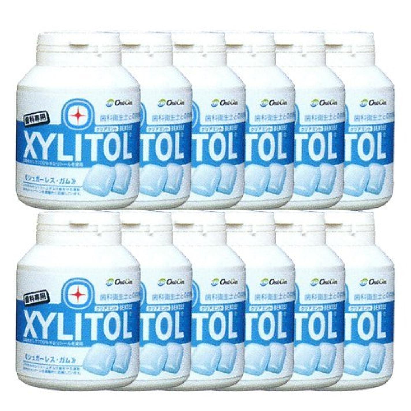寄付する専門家族歯科専売品 キシリトール ガム ボトル タイプ 90粒×12本 クリアミント キシリトール 100%