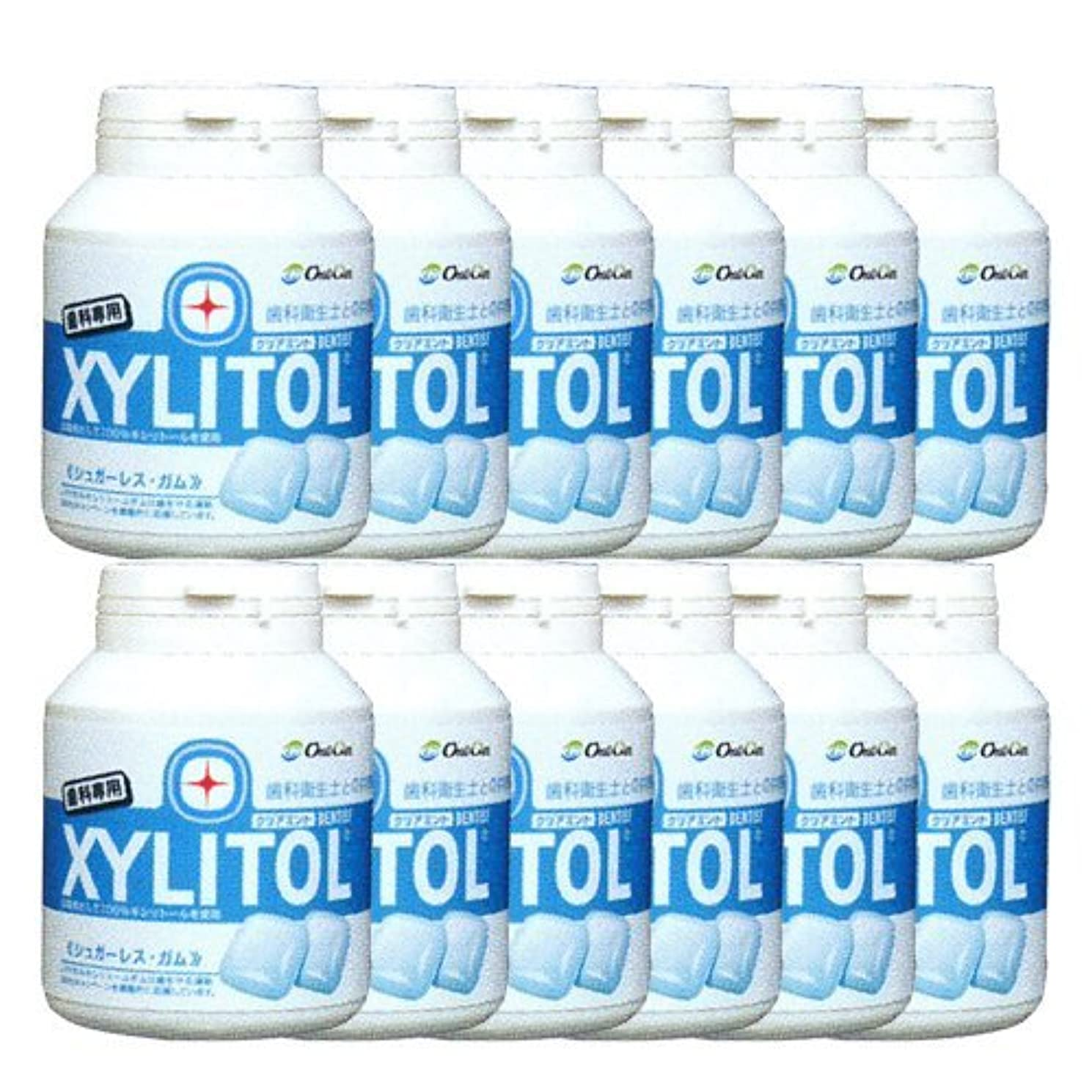 薄い不健康解任歯科専売品 キシリトール ガム ボトル タイプ 90粒×12本 クリアミント キシリトール 100%