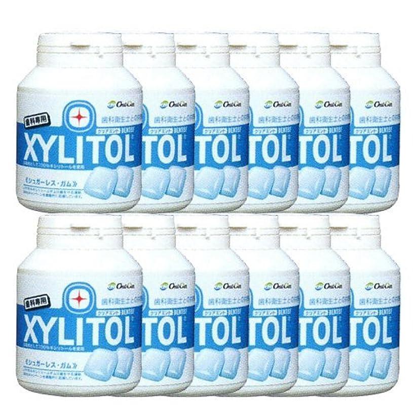 考えるためらう在庫歯科専売品 キシリトール ガム ボトル タイプ 90粒×12本 クリアミント キシリトール 100%