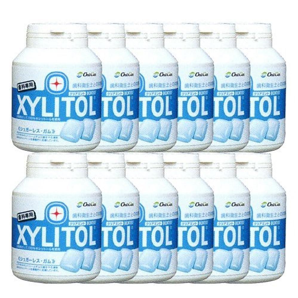 グレード家庭加速する歯科専売品 キシリトール ガム ボトル タイプ 90粒×12本 クリアミント キシリトール 100%
