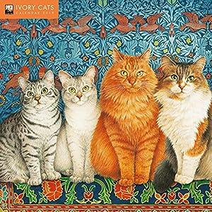 Ivory Cats 2019 Calendar (Wall Calendar)