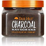 Tree Hut Charcoal Black Sugar Scrub, 18oz, Ultra Hydrating and Exfoliating Scrub for Nourishing Essential Body Care