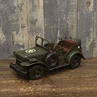 アメリカン ヴィンテージカー ノスタルジーな置物 アンティーク調 ヴィンテージカー Army