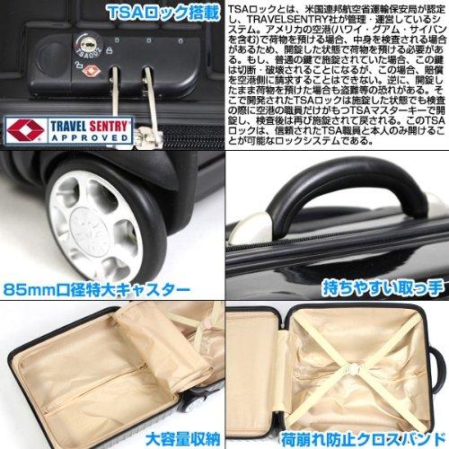 TSAロック スーツケース 超軽量 ビジネスかばん 4輪 キャスター付き キャリー TSAロック搭載 Sサイズ【黒】