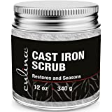 Culina Cast Iron Cleaning & Restoring Scrub   Removes Rust Without Scratching & Care Before Cleaning, Washing & Seasoning   1