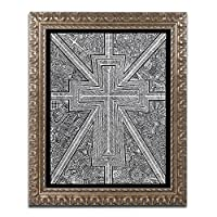 商標Fineアートホワイトライトby Vizアートインクアートワーク 16x20 ゴールド ALI2584-G1620F