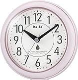リズム(RHYTHM) 掛け時計 置き時計 防水 防塵 アクアパークDN ピンク ф11.8×4.8cm DAILY 4…