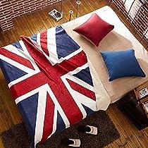 国旗 柄 ブランケット (イギリス, 160×130cm)