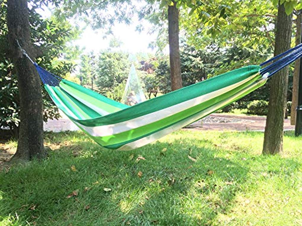 幻滅する除外するアーサー屋外キャンプキャンバスハンモック2人ポータブルガーデンビーチ旅行睡眠荷重300 kg 200 * 150 cm