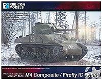 RUBICON MODELS 1/56 イギリス軍 M4シャーマン (コンポジット車体)/ファイアフライ IC (ハイブリッド車体) プラモデル RB0061