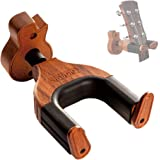 Guitar Wall Mount, Auto Lock Guitar Wall Hanger, Hard Wood Base in Guitar Shape Guitar Hook, Guitar Holder, Acoustic, Electri