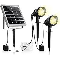 MEIKEE 2021年改良版 ソーラー ledガーデンライト アウトドア スポットライト 電球色 昼白色 昼光色 太陽…