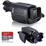 単眼鏡 望遠鏡 デジタル暗視単眼鏡 2KフルHDビデオ長距離赤外線暗視ゴーグル双眼鏡 狩猟 キャンプ、旅行 32 GBマイクロSDカードによる監視に適しており 100%の暗闇に適しています