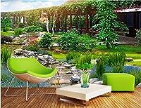 Bzbhart 3D壁紙シルク壁画ガーデンパーク風景装飾絵画 壁壁画壁紙用リビングルーム-450cmx300cm