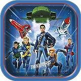 8枚セット サンダーバード Thunderbirds are go 使い捨て パーティー皿 紙皿 約22cm×22cm 誕生日 クリスマス パーティー [並行輸入品]