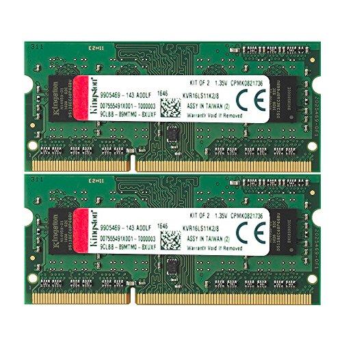 キングストン Kingston ノートPC用メモリ DDR3L 1600 (PC3L-12800) 4GB×2枚 CL11 1.35V Non-ECC SO-DIMM 204pin KVR16LS11K2/8 永久保証