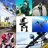 【電池2つ付き】4k アクションカメラ wifi 水中カメラ 360度カメラ 全天球 30m防水 自転車 空撮 3D・VR仮想メガネサポート アプリで八種類撮影モード 遠隔操作 日本語対応 V1(シルバー)