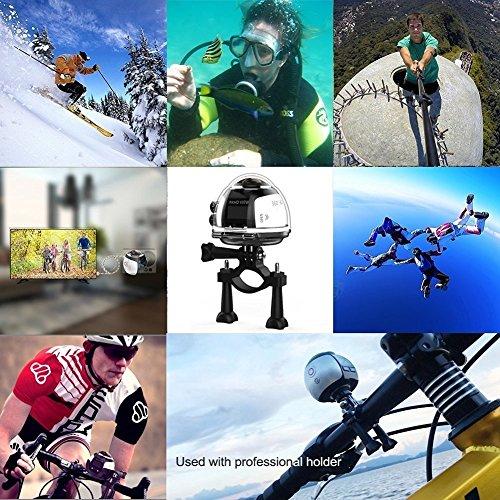 【電池2つ付き】OVTECH 3D.VR 4k 水中ビデオカメラ 360度カメラ 30メートル防水 アクションカメラ Wifi 空撮 自転車カメラ 日本語対応 V1(シルバー)