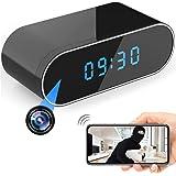 Hidden Camera HD 1080P WiFi Clock,Night Vision Spy Camera Wireless Mini Cam 140° Wide-Angle Video Recorder Motion Detection R