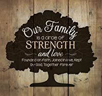 Our Family Circle of Strength Rustic Tree 10 x 10 Wood Pallet Design Wall Art Sign Plaque by P Graham Dunn