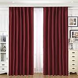 MEROUS 遮光カーテン 1級 遮熱 断熱 防寒 ドレープカーテン 幅100cm丈200cm 2枚組 保温 おしゃれ…