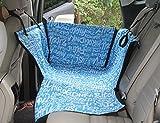 Winthome 新型車用ペットシート ペット用ドライブシート カバー 犬 猫 車用ペット用品 後部座席用 防水 滑り止め 汚れに強い ボックスタイプ 2カラー (ブルー)