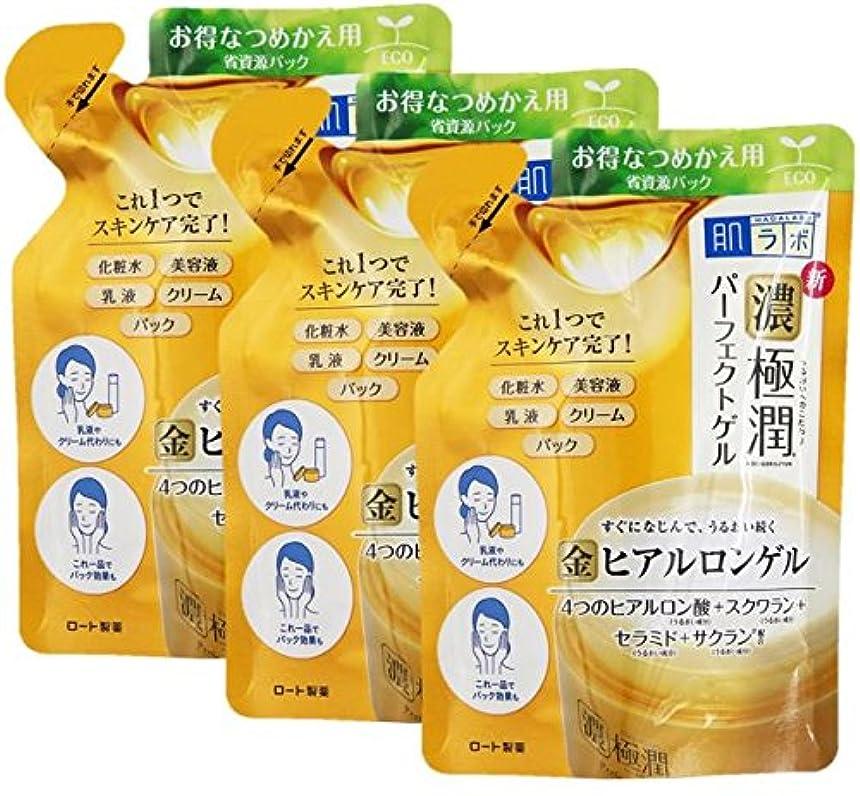 睡眠令状毒(ロート製薬)肌ラボ 極潤パーフェクトゲル つめかえ用 80g(お買い得3個セット)