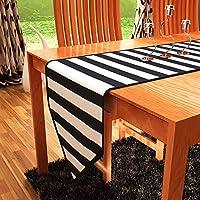 ホームハートDuck綿テーブルランナー 13x72 Inch ブラック 3741TR