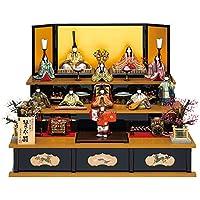 人形工房天祥 雛人形 真多呂作 木目込み人形 三段飾り 古今段飾り 賢永雛11人揃セット