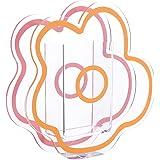 VOSAREA Pink Acrylic Cloud Shaped Flower Vase Make Up Brush Pen Holder Elegant Modern Contemporary Design Vase for Home Offic