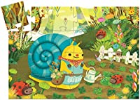 Djeco DJ07219 Silhouette Puzzle-Snail Goes Plant Picking Puzzle [並行輸入品]