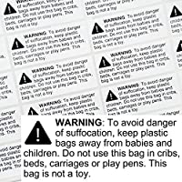 Rectangular Suffocation Warning Labels - Pack of 1200 2.4 x 1 [並行輸入品]