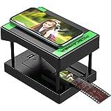 Rybozen モバイルフィルム スライドスキャナー 35mmフィルム&スライドでスキャン&プレイ可能 スマートフォンカメラ使用 楽しいおもちゃ プレゼント LEDバックライト付き 頑丈なプラスチック折りたたみスキャナー