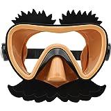 Flycreatスイミングゴーグル 子ども用 水泳 スイムゴーグル シュノーケルマスク くもり止め 広視野 水中メガネ UVカット 男女兼用 柔らかいシリコン 水漏れ防止 ベルト調節できる ビーチ 海水浴 水中 プール フィットネス おもしろいスイム ダイビング シュノーケルゴーグル