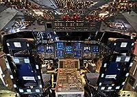 絵画風 壁紙ポスター (はがせるシール式) コックピット スペースシャトル エンデバー NASA キャラクロ NAS-012A2 (A2版 594mm×420mm) 建築用壁紙+耐候性塗料