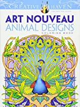 Creative Haven Art Nouveau Animal Designs Coloring Book (Adult Coloring)