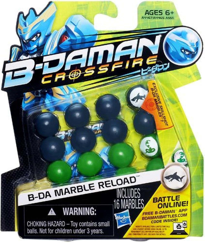 B-Daman Crossfire B-DA Marble Reload [Silver & Green] by B-Daman