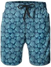 メンズ 水着シェルパターン 男性スポツパンツビーチパンツ 通気速乾
