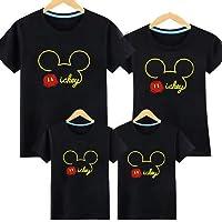 Q1-3 親子T-shirt ディズニー Tシャツ お誕生日 結婚お祝い ペアルック Tシャツ ミッキー 親子 ペア 男…