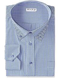 (アトリエサンロクゴ) atelier365 長袖 ワイシャツ ボタンダウン ギンガムチェック メンズシャツ yscm-bd-gin