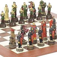 Robin Hood & The Sheriff of Nottingham Chessmen & Stuyvesant Streetチェスボードfrom Spain