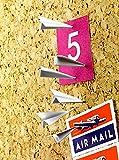 文房具・オフィス用品/ボード用付属品/アクセサリーフック・画びょう・ピン・ピンフック・プッシュピン・壁掛け画鋲 ・押しピン 創造的 紙飛行機型(12個入)