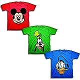 Disney Toddler Boys' Mickey, Goofy, Donald 3-Pack T-Shirts