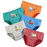 BOOPH Little Boys Toddlers Cotton Underwear Briefs Car 5 Pack