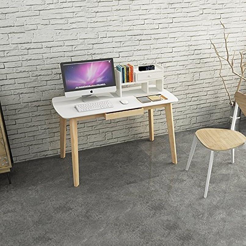 即席監督する検査官LJHA zhuozi コンピュータデスクソリッドウッドデスクトップコンピュータデスクホームシンプルな書棚小さなデスクテーブル引き出しサイズオプション (サイズ さいず : 100cm)