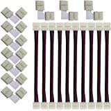 KINYOOO LEDストリップライトコネクタ、10mm幅 SMD5050 4ピンRGB LEDテープライトLタイプコネクタ(10個)、LEDテープ 延長用ケーブルコネクタ(10個)LEDテープと簡単接続、半田不要、使いやすい