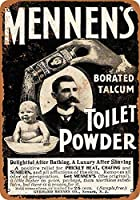 Shimaier 壁の装飾 メタルサイン 1901 Mennen's Toilet Powder ウォールアート バー カフェ 縦30×横40cm ヴィンテージ風 メタルプレート ブリキ 看板