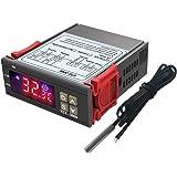 DiyStudio STC-3000 LCD デジタル温度コントローラーDC 12V電子温度計インテリジェント加熱冷却 防水NTC温度センサープローブ スナップデザイン高輝度ディスプレイ