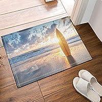 "FidgetGear 180x180cm 71"" Waterproof polyester Shower Curtain liner Bathroom set surfboard Mat(square)"