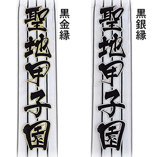 【プロ野球 阪神タイガースグッズ】聖地甲子園ワッペン(大)moカラー:黒金縁